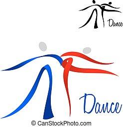 定型, 恋人, アイコン, 流れること, ダンス