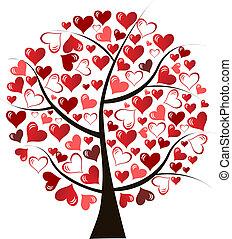 定型, 愛, イラスト, 木