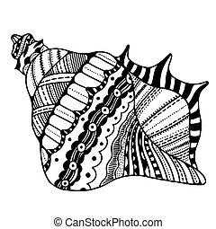 定型, 殻, zentangle