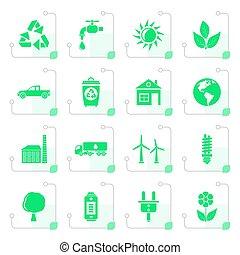 定型, 環境, エコロジー, アイコン