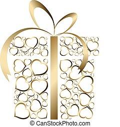 定型, 箱, 愛, プレゼント