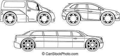 定型, 自動車, book:, 着色, セット