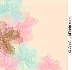 定型, 花, 挨拶, 背景, カード。