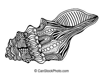 定型, shell., zentangle