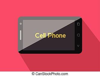 定型, smartphone, ベクトル
