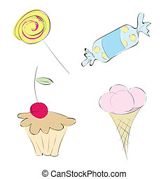 定型, sweets., 図画