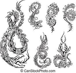 定型, tattos, ドラゴン
