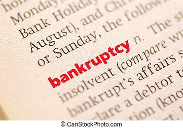 定義, の, 破産