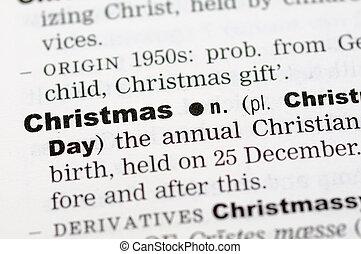 定義, クリスマス, 辞書