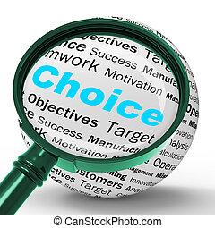 定義, ジレンマ, 混乱, 選択, magnifier, ∥あるいは∥, ショー