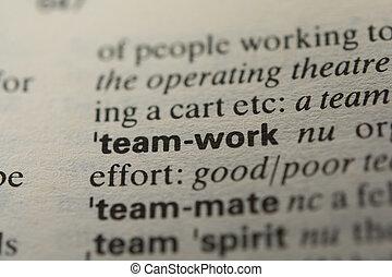 定義, チームワーク, 単語