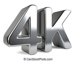 定義, テレビ, シンボル。, 高く, 4k, ultra, 技術