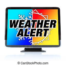 定義, テレビ, -, 警告, 高く, hdtv, 天候
