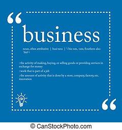 定義, ビジネス