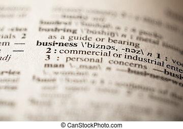 定義, ビジネス, 辞書, -, フォーカス, 精選する