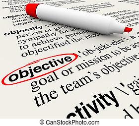 定義, 単語, ゴール, 辞書, 代表団, 一周される, 目的