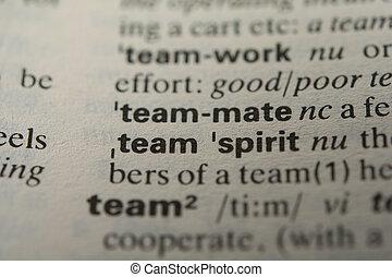 定義, 単語, チームメイト