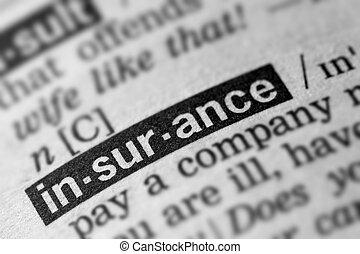 定義, 単語, 保険, テキスト