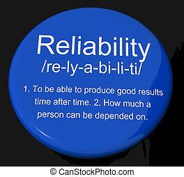 定義, 安定品質, ボタン, 信頼性, 信頼, 品質, ショー