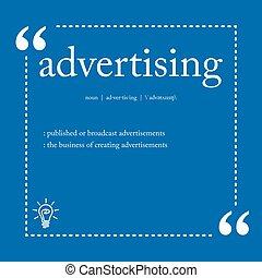 定義, 広告