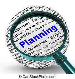 定義, 手段, 代表団, 計画, objectiv, magnifier, ∥あるいは∥