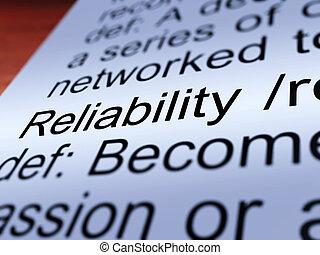 定義, 提示, 信頼性, クローズアップ, 安定品質