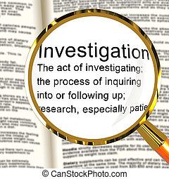 定義, 提示, 法的, 犯罪, 検出, 調査, イラスト, 犯罪, 犯罪者, 3d