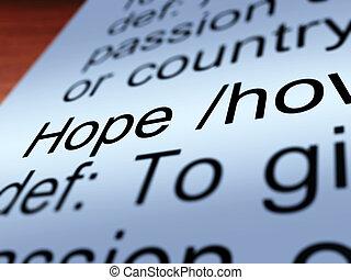 定義, 提示, 願い, クローズアップ, 希望