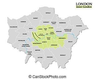 定義, 政治的である, ロンドン, 地図, statutory, 管理上