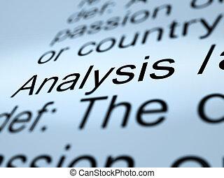 定義, 検査, 提示, 分析, クローズアップ, 原因究明, 勉強しなさい, ∥あるいは∥
