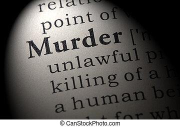 定義, 殺人