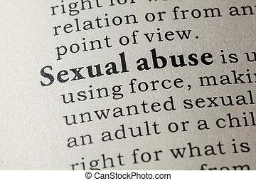 定義, 濫用, 性