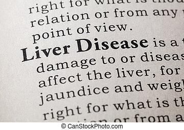 定義, ......的, 肝臟, 疾病