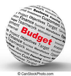 定義, 管理, 財政, ビジネス, 予算, 球, ∥あるいは∥, ショー