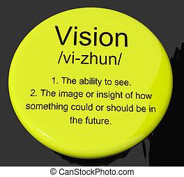 定義, 視力, 提示, ボタン, 未来, ゴール, ∥あるいは∥, ビジョン