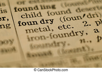 定義, 鋳物工場, 辞書, 型