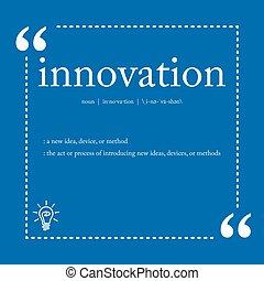 定義, 革新