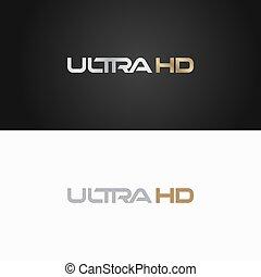 定義, logotype, 印, 高く, ultra, logo., hd