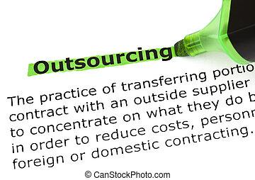 定義, outsourcing