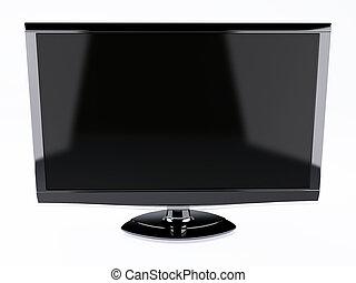 定義, tv, screen., 隔離された, 高く, 白