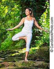 实践, 妇女, 瑜伽, 性质