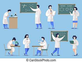 实验室, 学生, 化学, 化学家
