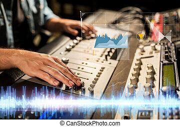 実地である, 混合 コンソール, ∥において∥, 録音, スタジオ