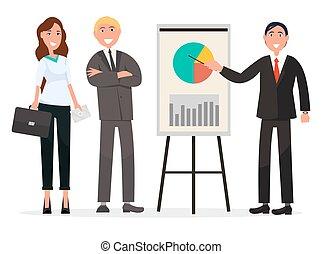 実業家のグループ, ∥で∥, 図, 上に, ポスター