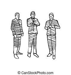 実業家のグループ, 図画