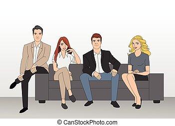 実業家のグループ, 着席させる