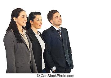 実業家のグループ, 見る, へ, 未来