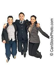 実業家のグループ, 跳躍