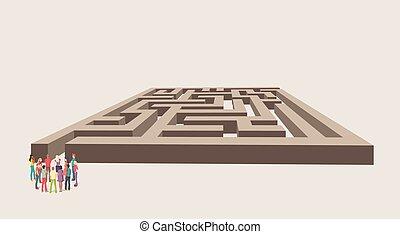 実業家のグループ, 選択, ∥, 右の方法, の, a, 迷路