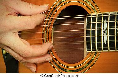 実行者, 遊び, 上に, ∥, アコースティックギター